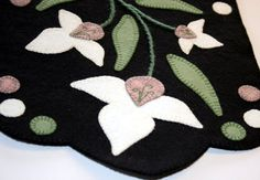 Lady Slipper Penny Rug Finished Design by TwistedKnickersInc, $104.00