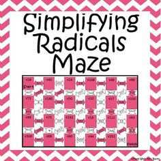Algebra Simplifying Radicals Maze | Simplifying radicals ...