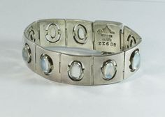Antonio Pineda Mexican Silver Moonstone Bracelet