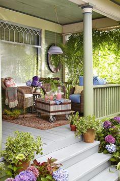 A Boho Porch Makeover | Living the Country Life Outdoor Rooms, Outdoor Living, Outdoor Decor, Victorian Porch, Farmhouse Front Porches, Country Porches, Front Porch Design, Porch Makeover, Home Porch