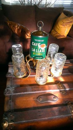 Hey, I found this really awesome Etsy listing at https://www.etsy.com/listing/181544517/repurposed-chandelier-with-coffee-can