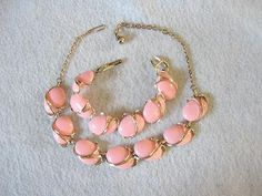 Springtime!    Vintage Pink Thermoset Necklace and by DodosVintageJewelry on Etsy, $25.00