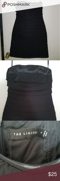 The Limited Little Black dress!! Perfect little black dress for the upcoming prom season or a night out on the town! Sleeveless with great detail! Looks brand new! The Limited Dresses Strapless