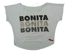 Blusas Femininas | Blusa Cropped Costas Rasgadas Bonita Bonita Bonita Branca  Acesse: http://www.spbolsas.com.br/atacado/ #Regatas #Femininas #Atacado