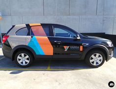 Holden Captiva, Employment Services, Door Logo Decal, Rear side stripes