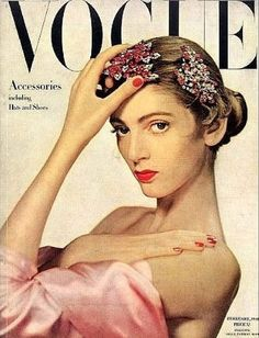 Carmen DellOrefice in pictures. Vintage vogue covers 1946. #vintage #vogue #covers