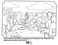 Palm Sunday - Bible Coloring Pages | What's in the Bible?