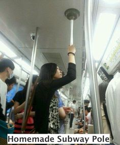 If I'm ever in a town with a subway... Im sure this is a great way to scare people off too...
