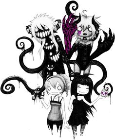 Goth cute chibi drawing