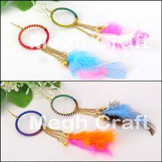 Designer BALI FEATHER EARRINGS Retail : https://www.craftnfashion.com Whatsapp : +91 9375519381  E-mail : craftnjewelery@gmail.com