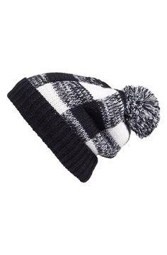 BP. Check Pompom Knit Beanie