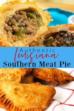 Authentic Natchitoches, Louisiana Meat Pie recipe with step by step instructions. Creole Recipes, Cajun Recipes, Meat Recipes, Appetizer Recipes, Cooking Recipes, Haitian Recipes, Appetizers, Donut Recipes, Curry Recipes