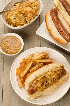 Sweet Onions and Cabbage: Grilled bratwurst topped with sautéed sweet ...
