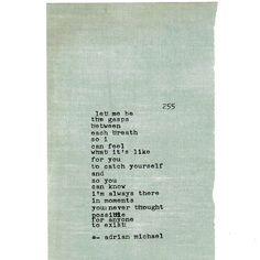 Blinking Cursor Series No. 255 #adrianmichael #typewriter #poetry