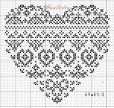 for the heart pattern DMC embroidery floss with '' coloris '' Wedding Cross Stitch Patterns, Modern Cross Stitch Patterns, Cross Stitch Designs, Blackwork Cross Stitch, Cross Stitching, Cross Stitch Embroidery, Cross Stitch Pictures, Cross Stitch Heart, Crochet Chart