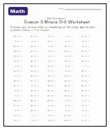 minute division drill worksheet  stuff to buy  worksheets math   minute division drill worksheet  stuff to buy  worksheets math  teaching division