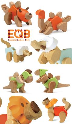 EQB Emotional Quotient Blocks are an award-winning unique modular puzzle toy from South Korea that transform into various types of animals and positions, improv