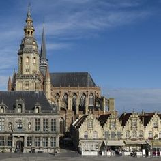 VEURNE at its prettiest, preserved town squares in Belgium
