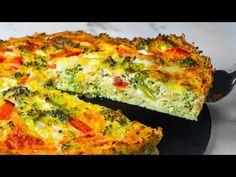 Do tohoto receptu jsem nedal žádné maso ani mouku. Speciální koláč s brokolicí  Chutný TV - YouTube Carne, Quiches, Queso, Pizza, Pastel, Vegetarian, Breakfast, Food, Youtube