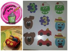 Wiggles cupcake toppers.  Therapeutic Arts.
