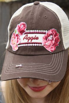 Collegiate Trucker Hats by #bohocircus, #Aggies #Aggie #arosyoutlook