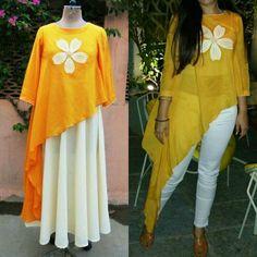 for this Tailer fit designer wear Western Dresses, Western Outfits, Indian Dresses, Indian Outfits, Kurta Designs, Blouse Designs, Kaftan, Hippy Chic, Indian Designer Wear