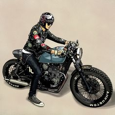 64 Ideas Classic Motorcycle Art Motors For 2019 Motorcycle Types, Cafe Racer Motorcycle, Bike Art, Motorcycle Bike, Classic Motorcycle, Cafe Racer Honda, Cafe Racers, Bike Drawing, Vintage Cafe Racer