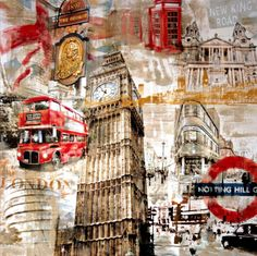 Sketch Book Stretched Canvas Print: In London by Tyler Burke : - London City, Arte Gcse, Lightroom, Art Et Architecture, Mixed Media Photography, White Photography, Photography Lighting, London Photography, Photography Reflector