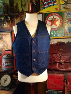 Vintage Maverick Western Sherpa Lined Denim by TheMaineVintage