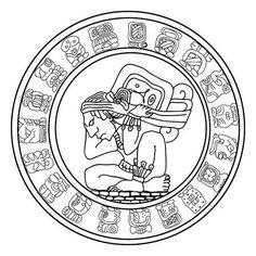 Illustration of Maya symbol vector art, clipart and stock vectors. Mayan Tattoos, Inca Tattoo, Indian Tattoos, Inca Art, Animal Symbolism, Mexico Art, Aztec Art, Mesoamerican, Banner Printing