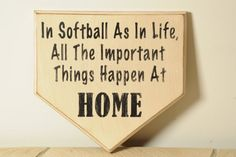 Home Plate Softball Sign by englertandenglert on Etsy.. Would want it to say baseball though