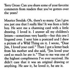 Maurice Sendak would've turned 85 today. One of my favourite anecdotes of all time. (via Twitter)