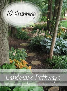 10 Stunning Landscape Pathways. Gorgeous backyard pathways that you can DIY or design for your yard.  Ideas, projects and DIY tutorials for backyard pathways.