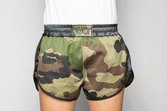 Short printed cotton camouflage black bias satin stretch black satin ZAT CAMO LEON M.T. cVXBueAq