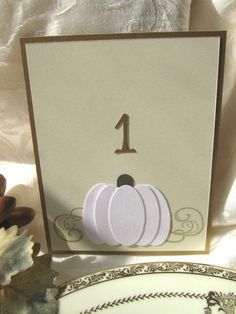 Fall table number - would use silver instead of gold.