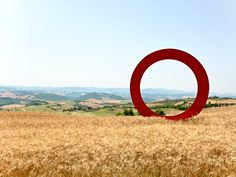 ,Volterra - watched the sunrise over Volterra next to this big 'O'!!