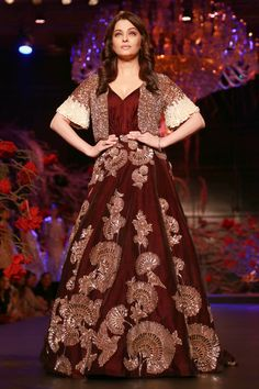 "Designer Manish Malhotra unveiled his newest limited edition collection titled ""The Empress Story"" at the Amazon India Couture Week (AICW) 2015"