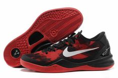 best website 2e771 dc9b9 Authentic Nike Zoom Kobe VIII Basketball shoes popular Black Red (Bred)  Style For Sale