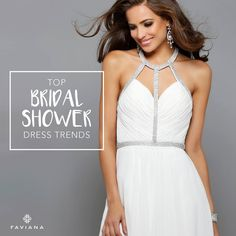 Look and feel great at your bridal shower! Check out our Top Bridal Shower Dress Trends.