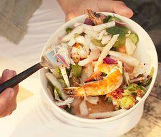 Shrimp, Lobster, and Jicama Salad Recipe  at Epicurious.com