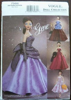 Gown Stole and MORE 11½ Barbie® DOLL Knitting WARDROBE Pattern VTG Design 7106