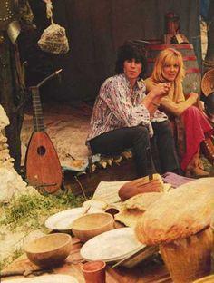 With Anita and a mandolin.