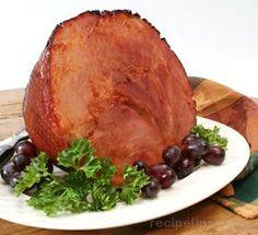 ♥ Ham With Honey Mustard Glaze Recipe ♥ ----------------------------------------------------- 1 cup honey cup butter 3 tablespoons dark corn. Ham Recipes, Slow Cooker Recipes, Crockpot Meals, Honey Mustard Glaze, Dry Mustard, Ham Cooking Time, Slow Cooked Ham, Thanksgiving Ham, Baking With Honey