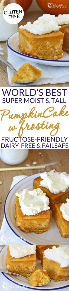 Definitely the World's Best Pumpkin Cake! Super moist and tall! (Gluten-free, dairy-free, fructose-friendly, low-fodmap, failsafe)