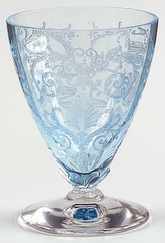 Fostoria VERSAILLES BLUE Whiskey Glass 1822022 #Fostoria
