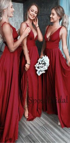 Modest bridesmaid dresses - 2020 Aline Cheap Sexy V Neck Colorful Long Modest Elegant Bridesmaid Dresses, 2020 Aline Cheap Sexy V Neck Colorful Long Modest Elegant Bridesmaid Dresses, – Modest bridesmaid dresses Classy Bridesmaid Dresses, Red Bridesmaids, Bridesmaid Dress Colors, Elegant Prom Dresses, Wedding Party Dresses, Nice Dresses, Sexy, The Dress, Dress Long