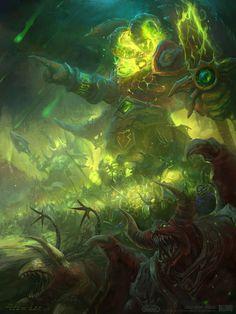 Warcraft Sargeras, War of the Ancients, Peter Lee Hp Lovecraft, World Of Warcraft Gold, Warcraft Art, Destroyer Of Worlds, Nerd Art, Demon Hunter, Comic Drawing, Monster Art, Sci Fi Fantasy