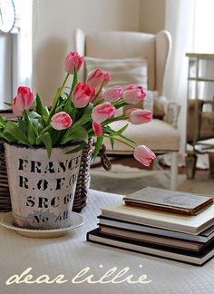 sweet tulip arrangement love the rest to.