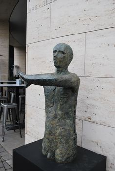 Man with Raised Arms, Anthony Abrahams, Bronze