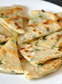 How to make Scallion Pancakes - a quick and easy vegetarian dinner option.